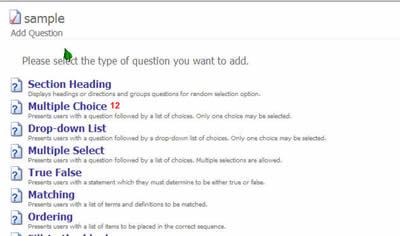 add a quiz question screen